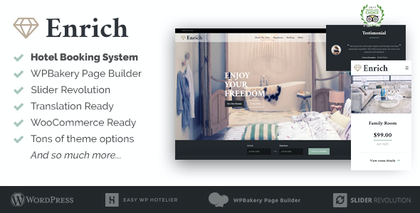 test Enrich – Hotel Booking WordPress Theme