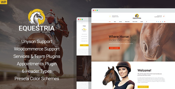 test Equestria - Horse Club WordPress Theme
