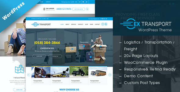 test Extransport - Freight, Logistics WordPress theme