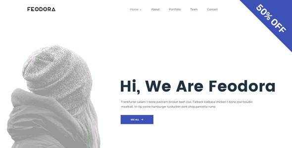 Test du thème WordPress Feodora Creative WordPress Theme , découvrez notre avis