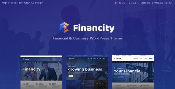 Test du thème WordPress Financity , découvrez notre avis