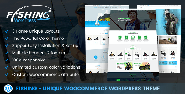 test Fishing - WordPress Theme For Fishing Store