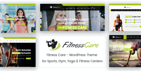 test Fitness Care - WordPress Theme for Sports, Gym, Yoga & Fitness Centers