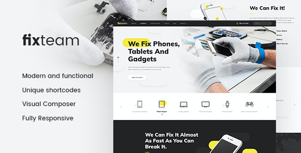 test FixTeam | Electronics Repair WordPress Theme