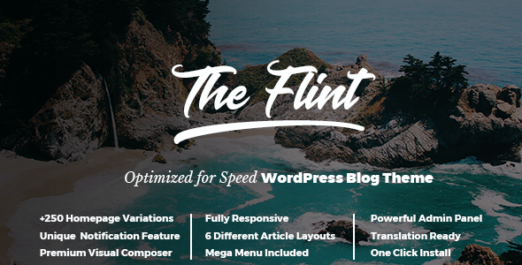 test Flint - Optimised WordPress Blog Theme