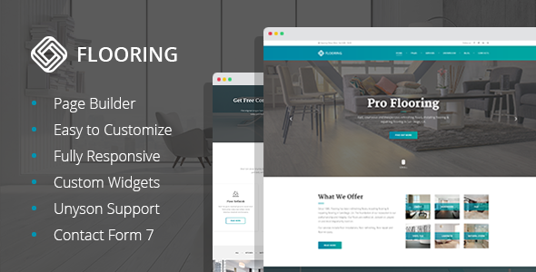 test Flooring - Floor Repair/Refinish WordPress Theme
