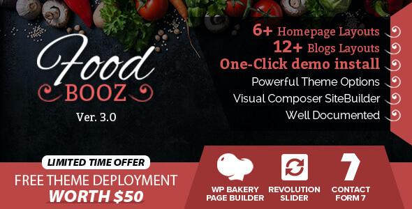 Test du thème WordPress FoodBooz Minimal WordPress Restaurant , voici notre avis