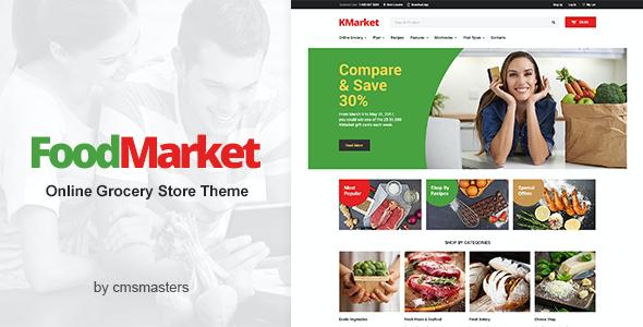 Test du thème WordPress Food Market , découvrez notre avis