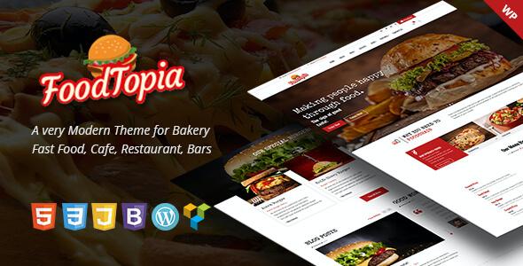 Test du thème WordPress FoodTopia WordPress Theme for Fast Food Restaurants , découvrez notre avis
