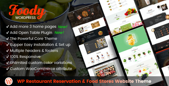 test Foody - WordPress Restaurant Reservation & Food Store Website Theme