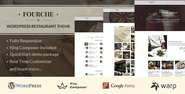 test Fourche — Restaurant & Cafe WordPress Theme