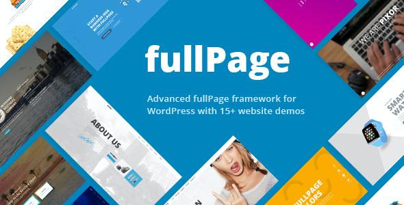 Test du thème WordPress FullPage , voici notre avis