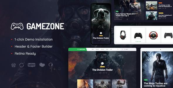 Test du thème WordPress Gamezone , découvrez notre avis