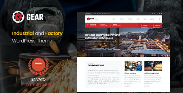 test Gear - Factory and Industry Business WordPress Theme