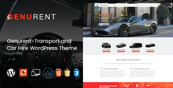 test Genurent - Transport and Car Hire WordPress Theme