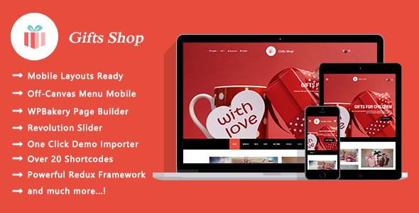 Test du thème WordPress Gifts Shop , voici notre avis