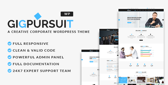 test GigPursuit - Business & Corporate WordPress Theme