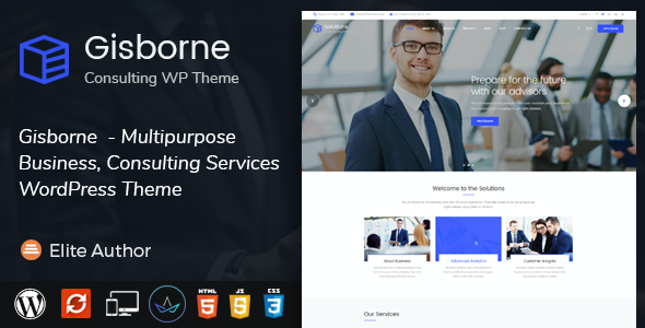 test Gisborne - Business, Finance and Consulting WordPress Theme