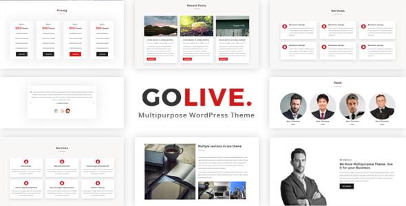 Test du thème WordPress GoLive , découvrez notre avis