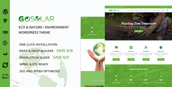 test Go Solar - Eco & Nature / Environment WordPress Theme
