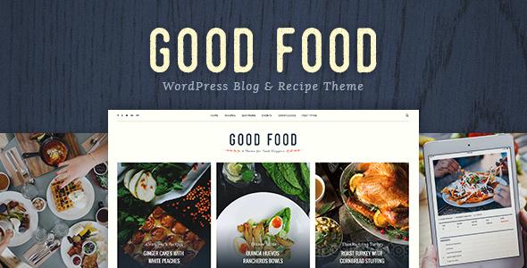 Test du thème WordPress Good Food , voici notre avis
