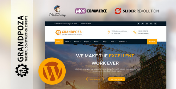 test Grandpoza - Construction WordPress Theme