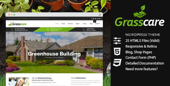 Test du thème WordPress GrassCare , découvrez notre avis