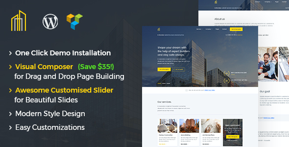 test GrayHouse - Modern Construction WordPress Theme