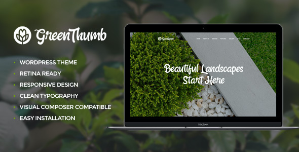 Test du thème WordPress Green Thumb , découvrez notre avis