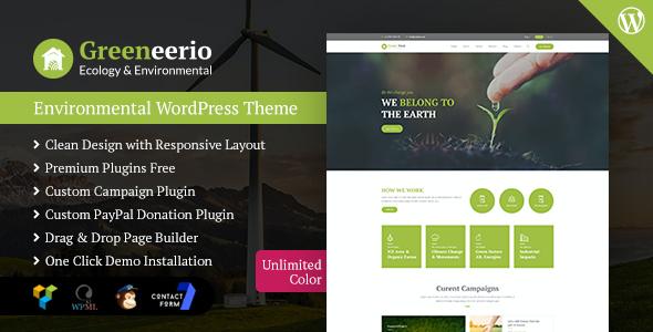 Test du thème WordPress Greeneerio , voici notre avis