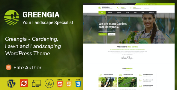 test Greengia - Gardening, Lawn and Landscaping WordPress Theme