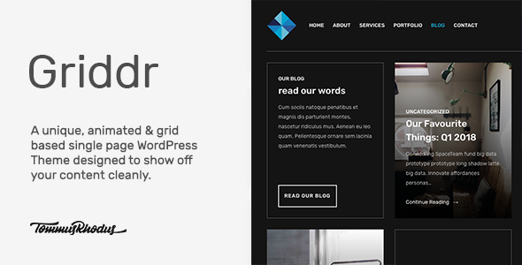 Test du thème WordPress Griddr , voici notre avis