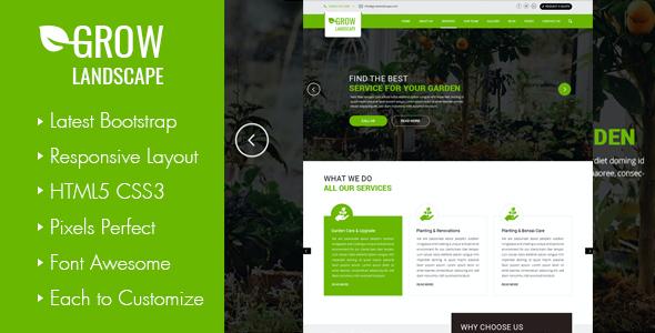 Test du thème WordPress Grow Landscaping and Gardening WordPress Theme , voici notre avis