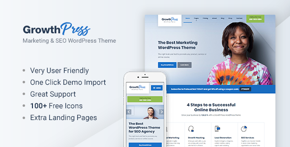 test GrowthPress - Marketing and SEO WordPress Theme