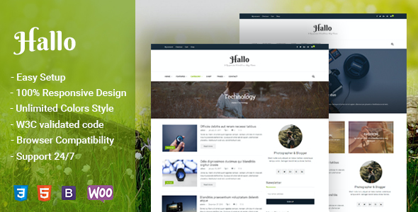 test Hallo - Lifestyle A Responsive WordPress Blog Theme