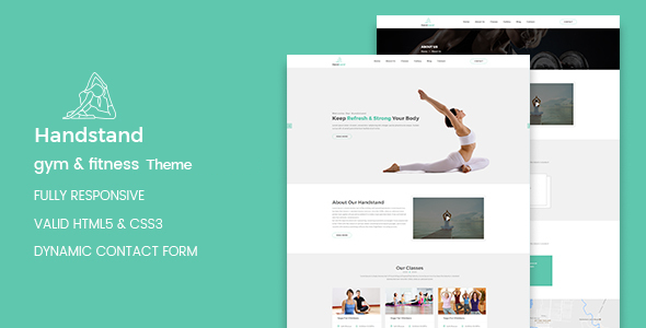 test Handstand - Gym & Fitness WordPress Theme