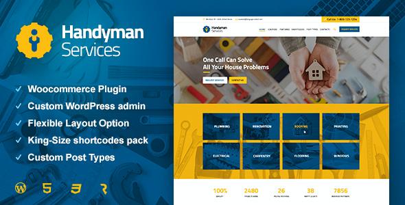 Test du thème WordPress Handyman Services , découvrez notre avis