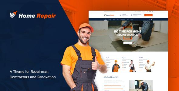 Test du thème WordPress Home Repair , voici notre avis