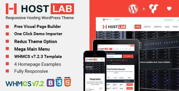 Test du thème WordPress HostLab , voici notre avis