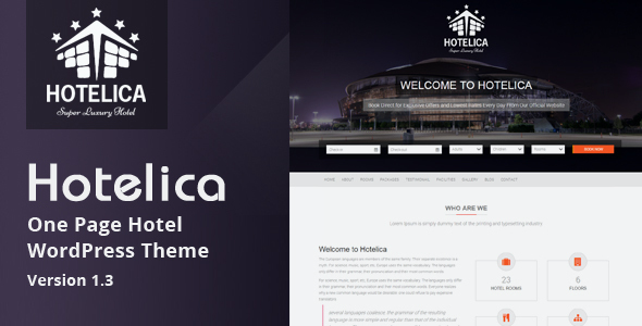 test Hotelica - One Page Hotel WordPress Theme