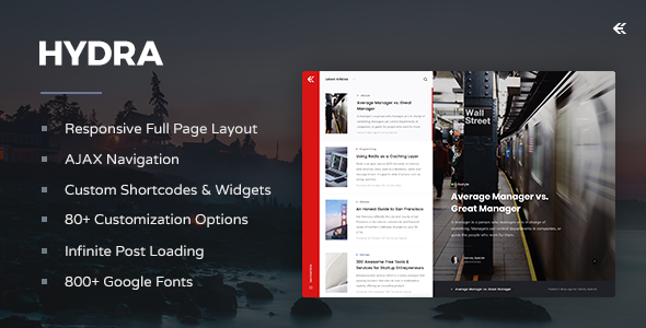 test Hydra - Responsive WordPress Blog Theme