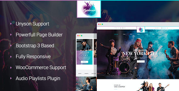test Hyphoria - Rock Band WordPress Theme