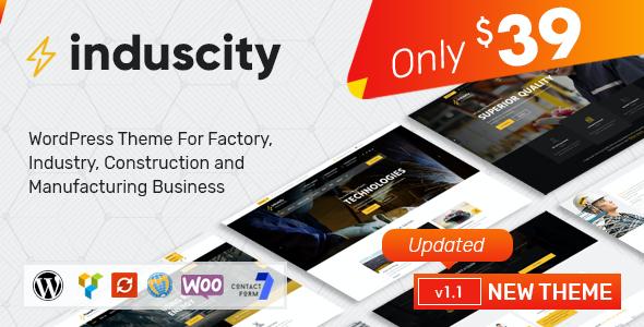 Test du thème WordPress Induscity , voici notre avis