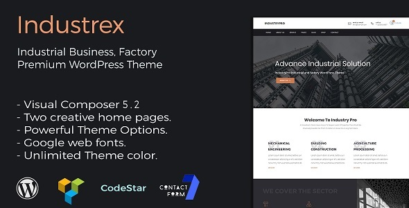 test Industrex | Industry and Construction Premium WordPress Theme