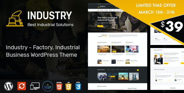 test Industry - WordPress Theme for Factory and Industrial Business