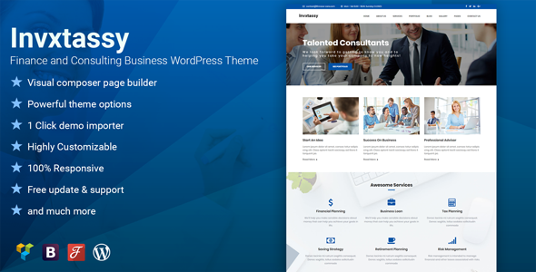 test Invxtassy - Finance and Consulting WordPress Theme