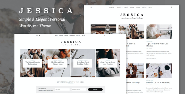test Jessica - Simple & Elegant Personal WordPress Theme