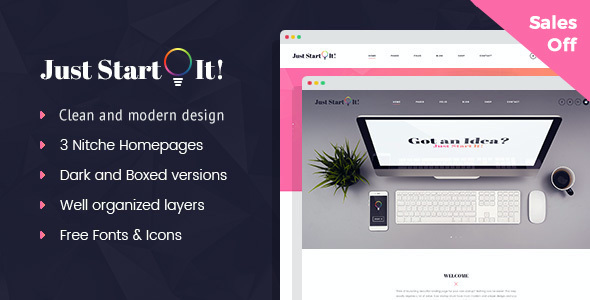 test Just Start It - Corporate/Business WordPress Theme