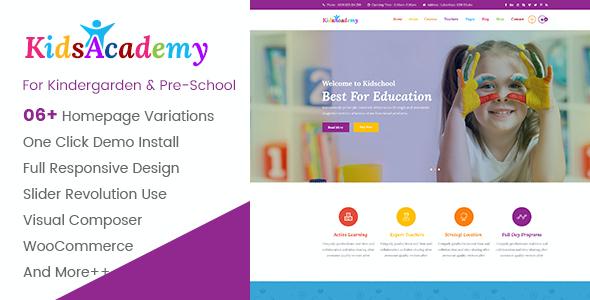 Test du thème WordPress KidsAcademy , découvrez notre avis
