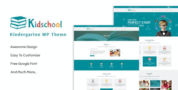 Test du thème WordPress Kidschool , voici notre avis